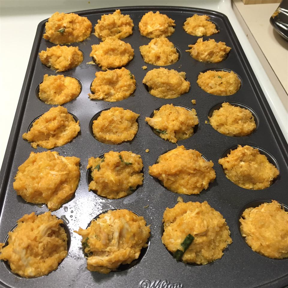 Buffalo Chicken Quinoa Bites JMarsh