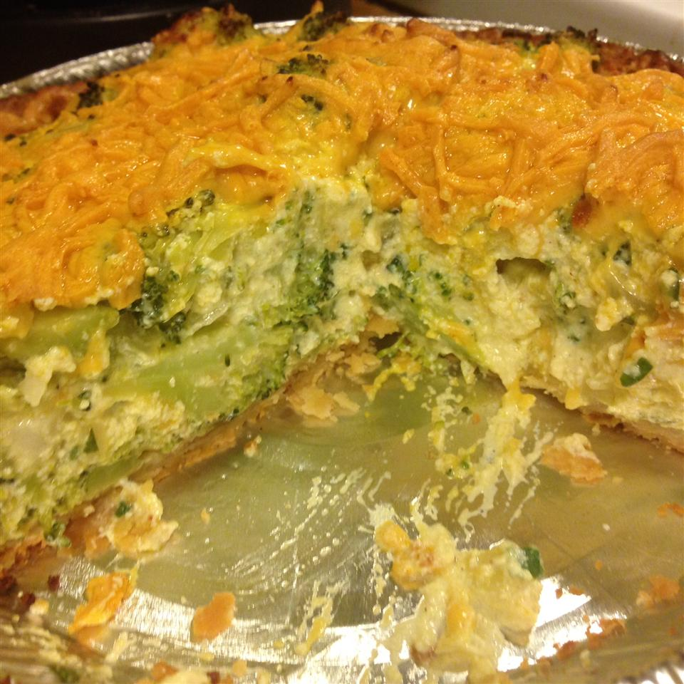 Tofu Quiche with Broccoli