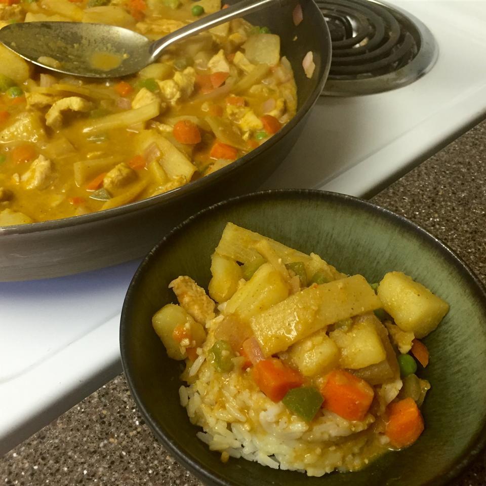 Yellow Curry Chicken with Jasmine Rice MilitaryMom