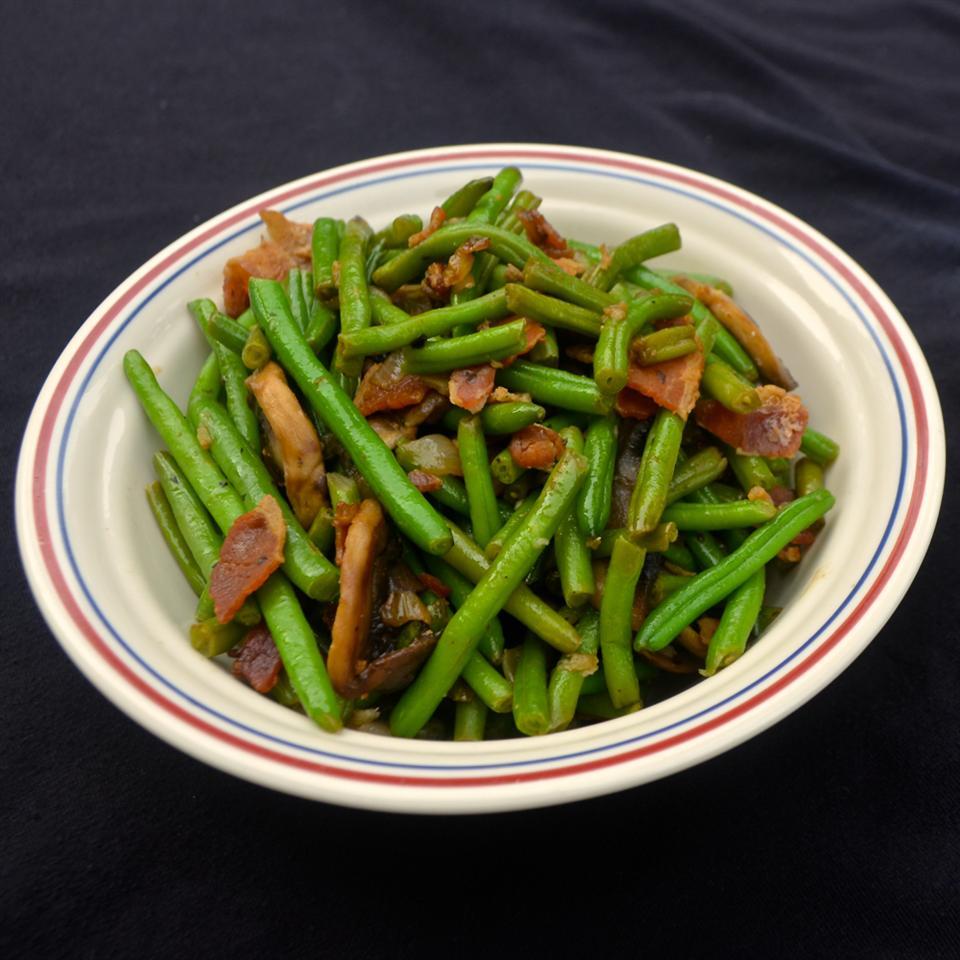 Mushroom and Bacon Green Beans