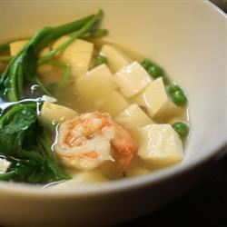 Chinese Shrimp and Tofu Soup erni
