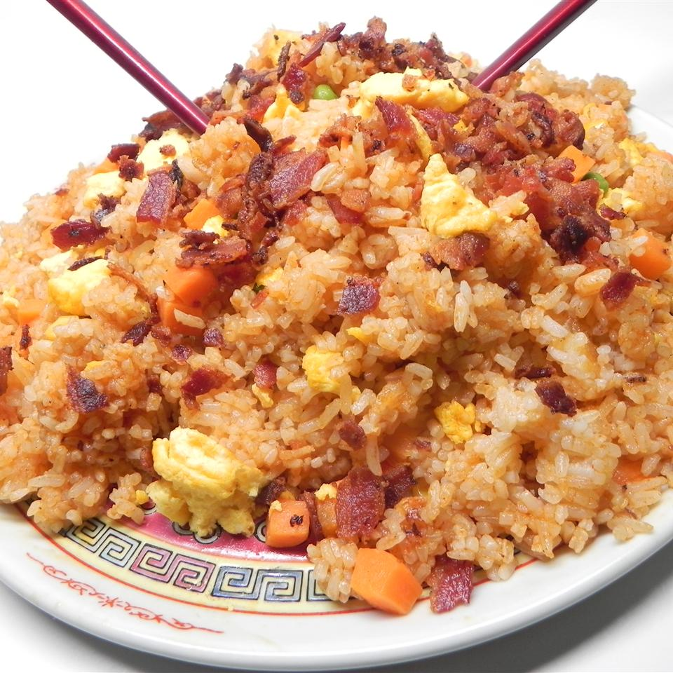 Fried Rice with Bacon and Sriracha Anonymous