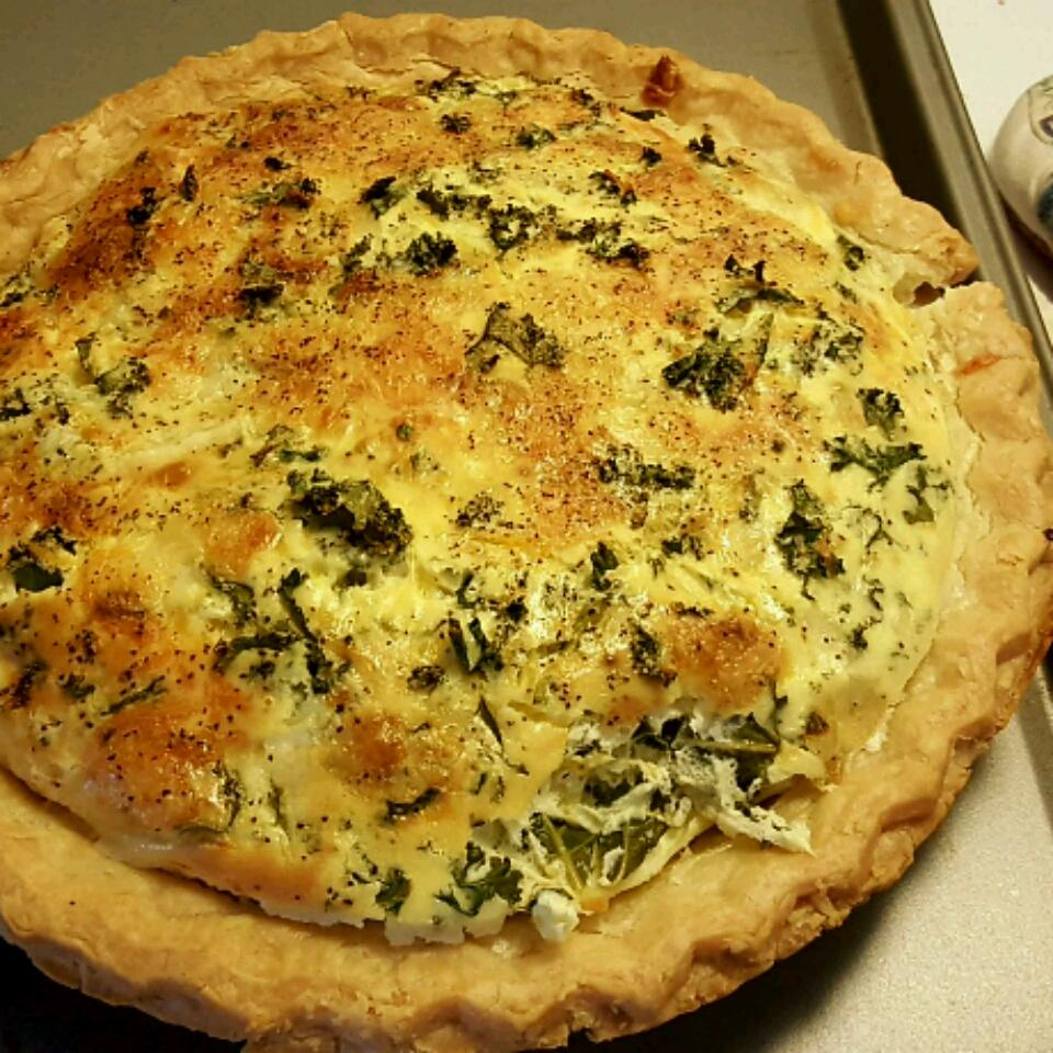 Cheesy Kale Quiche
