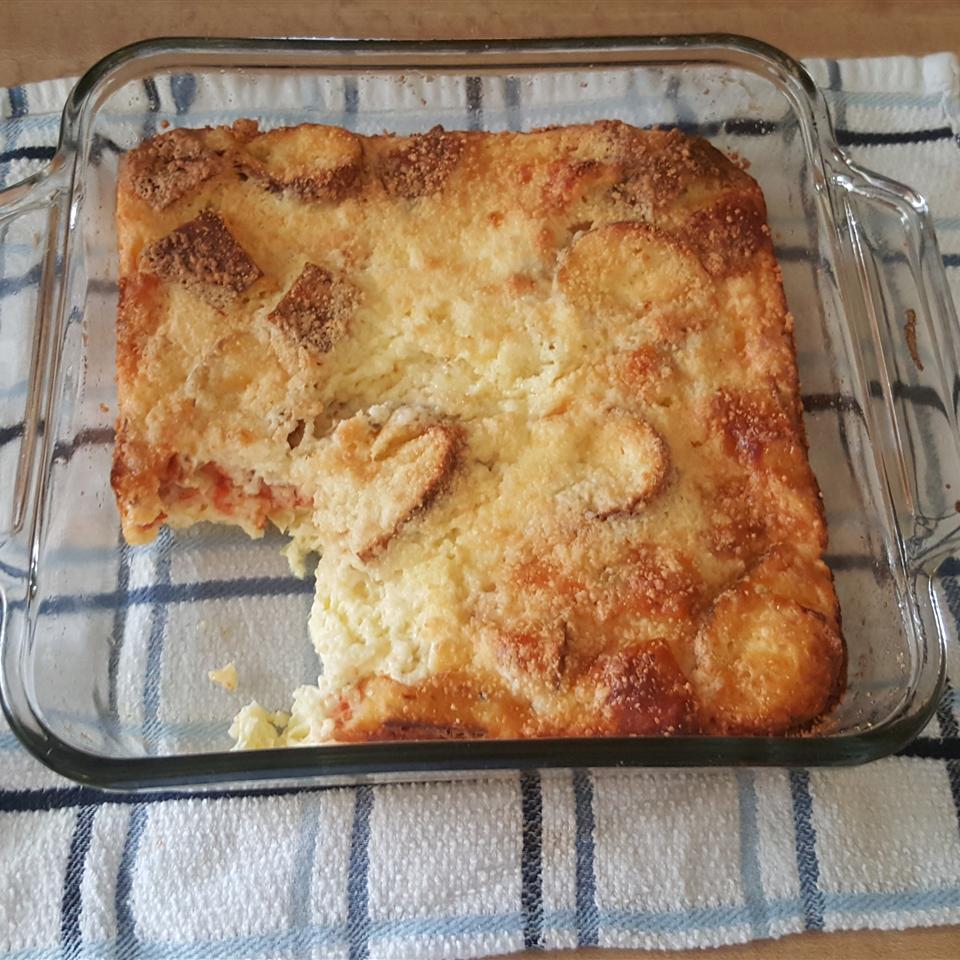 Leftover Pizza Breakfast Casserole