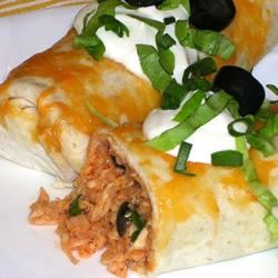 Picante Chicken Rice Burritos
