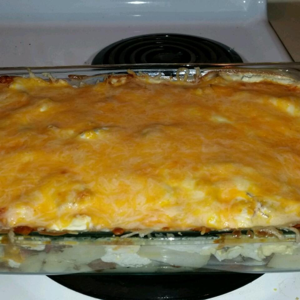 Potato, Cheese, and Kielbasa Casserole