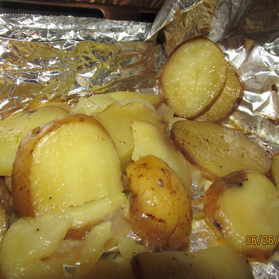 Grilled Potatoes and Onion