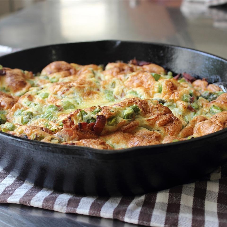 Chef John's Bacon and Asparagus Dutch Baby