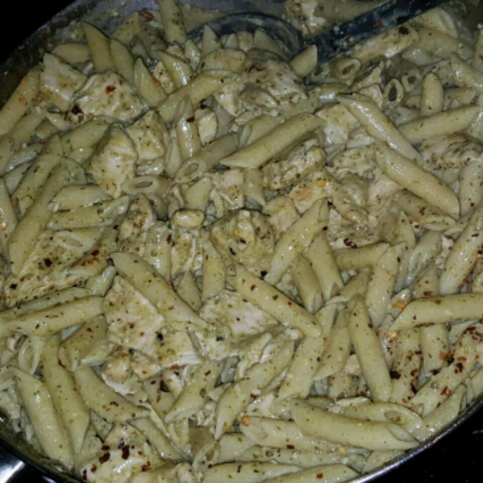 Penne with Chicken and Pesto Marcos Cantu