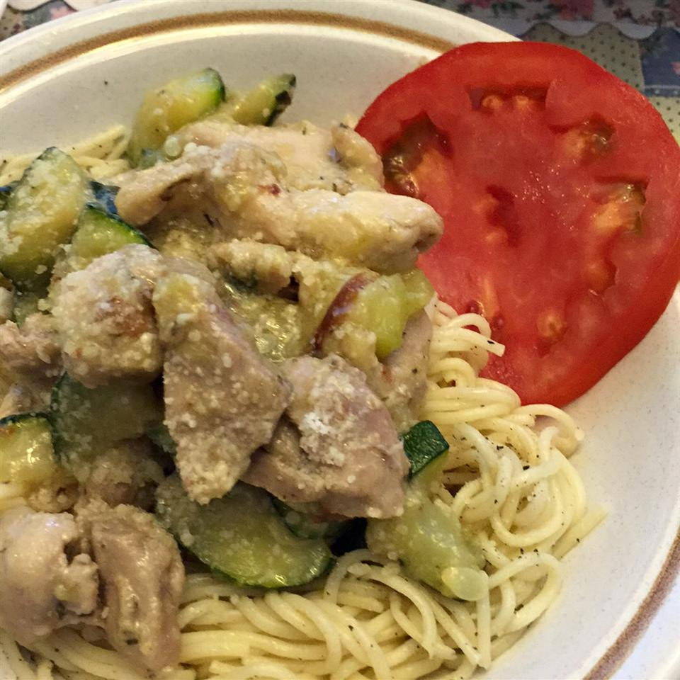 Garlic Chicken and Zucchini Auntie Barbara 1