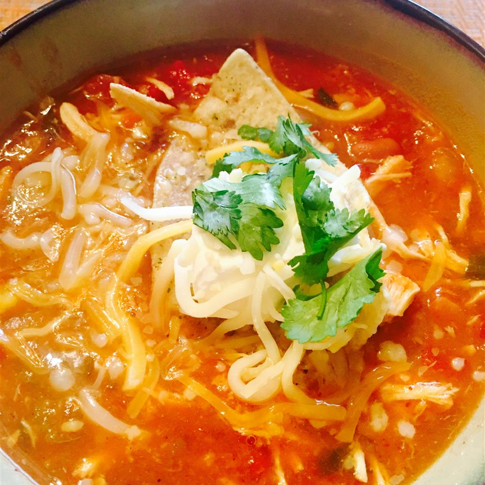 Slow Cooker Chicken Taco Soup - Printer Friendly