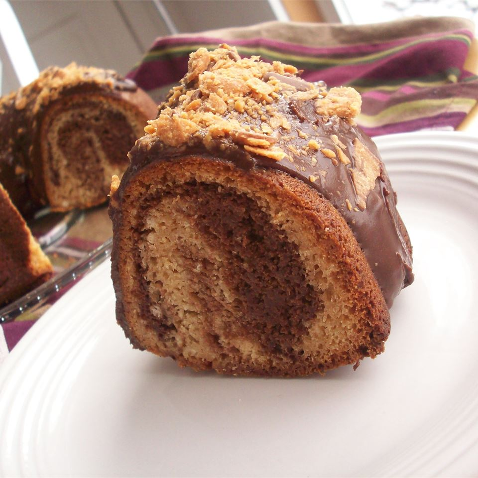 Chocolate Peanut Butter Marble Cake image