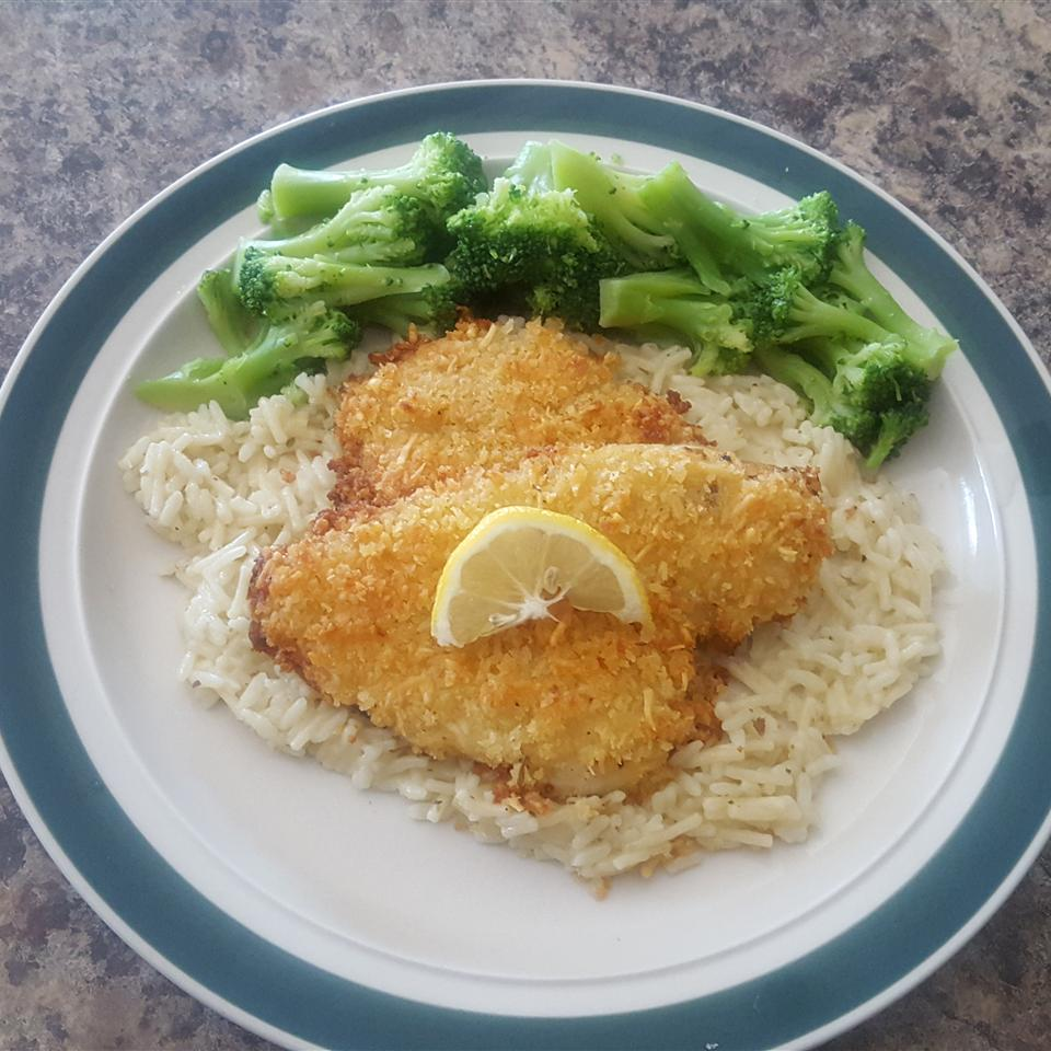Baked Flounder with Panko and Parmesan