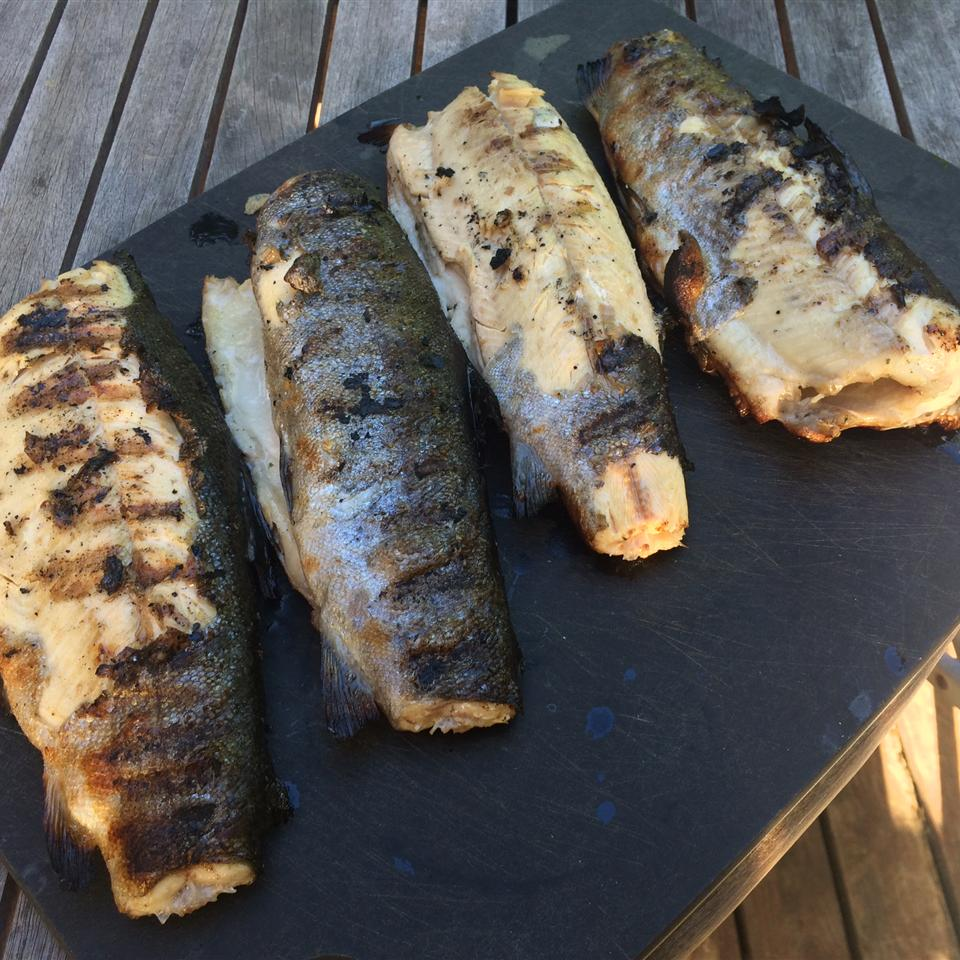 Foil Barbecued Trout with Wine Tim Claxton