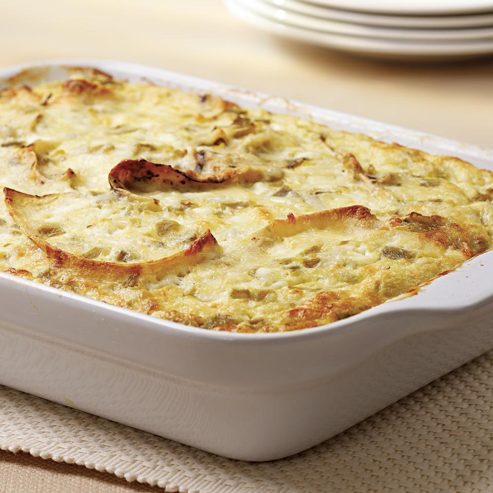 Zesty and cheesy, this casserole is easy to make ahead of time for entertaining.