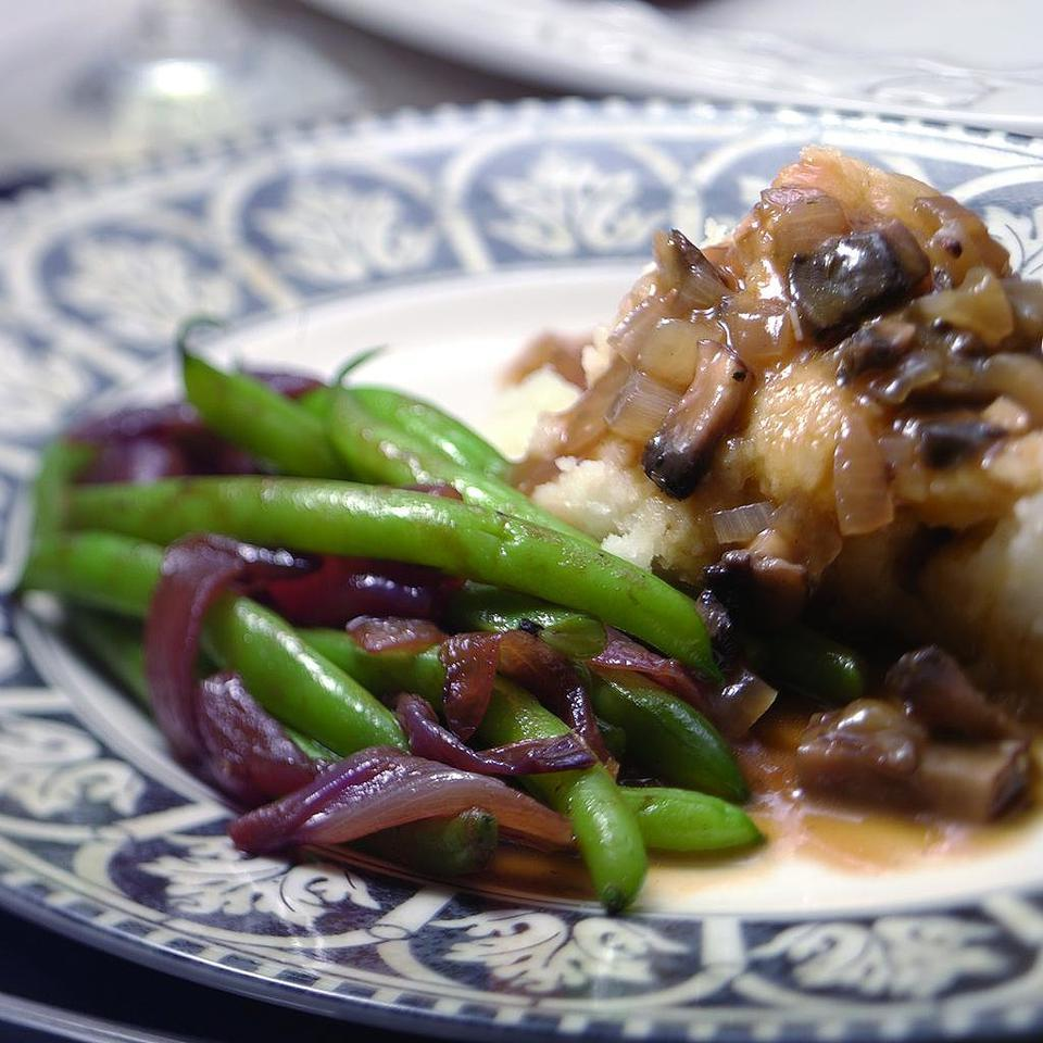 Green Beans with Caramelized Red Onions Kathy Farrell-Kingsley