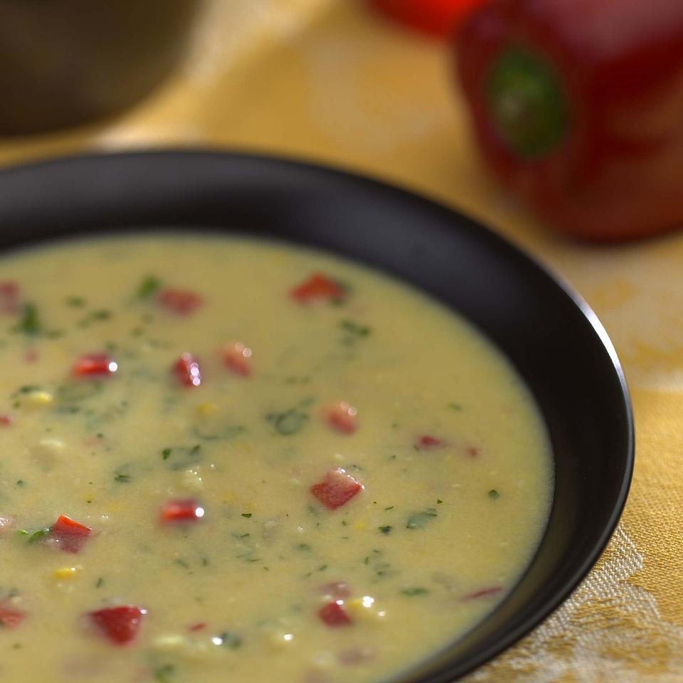 Fresh Corn & Red Pepper Bisque Kathy Farrell-Kingsley