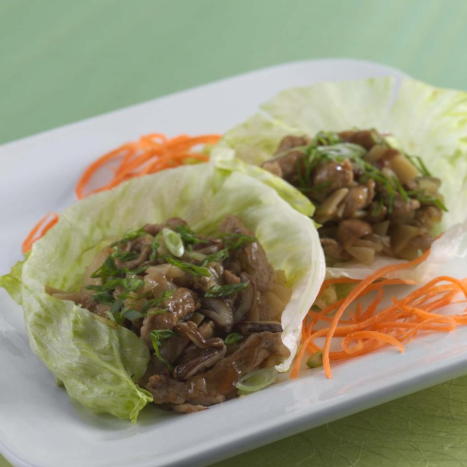 Lettuce Wraps with Spiced Pork EatingWell Test Kitchen