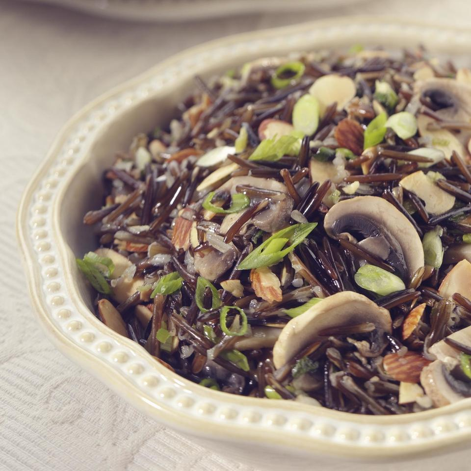 Wild Rice with Shiitakes & Toasted Almonds Victoria Abbott Riccardi