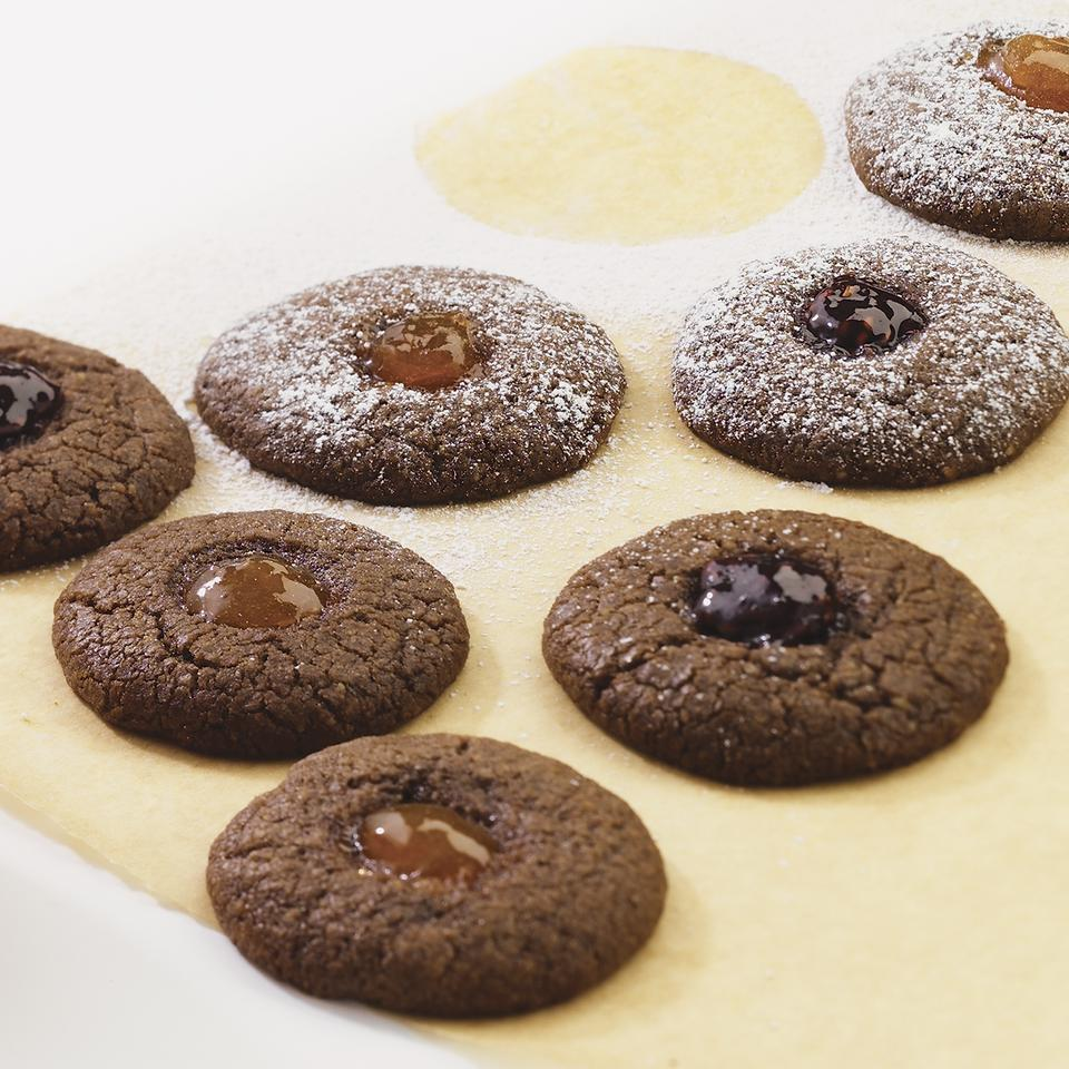 Chocolate Thumbprint Cookies EatingWell Test Kitchen