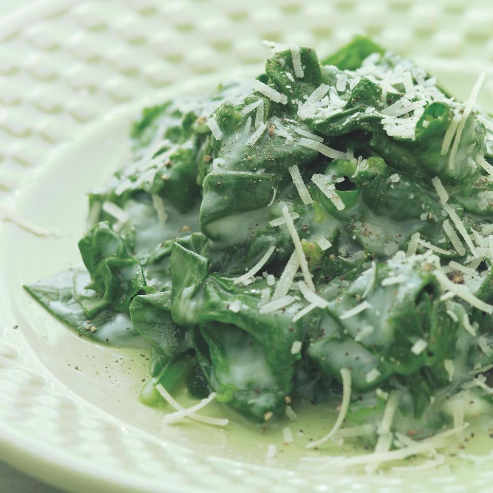 Creamed Spinach EatingWell Test Kitchen