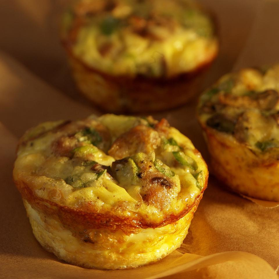 Mini Mushroom-&-Sausage Quiches EatingWell Test Kitchen