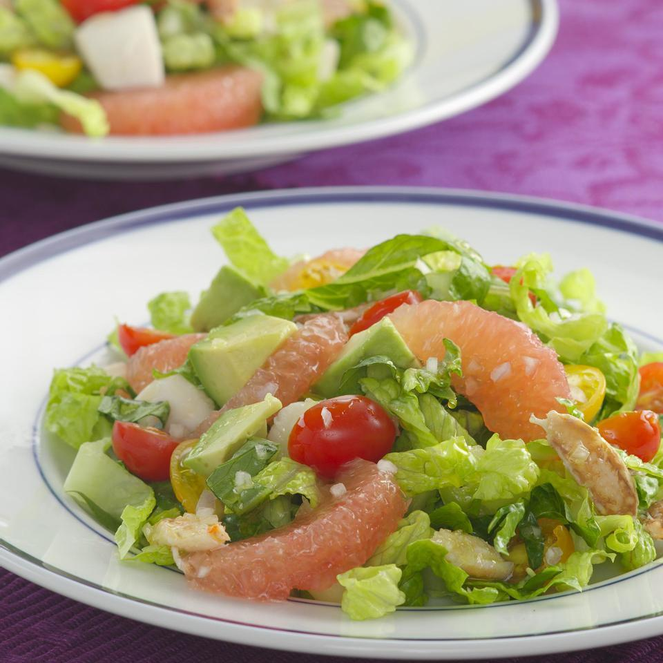 Seafood Salad with Citrus Vinaigrette EatingWell Test Kitchen