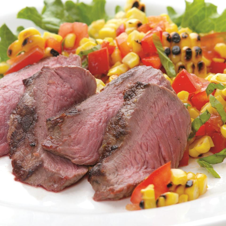 Grilled Steak with Fresh Corn Salad EatingWell Test Kitchen