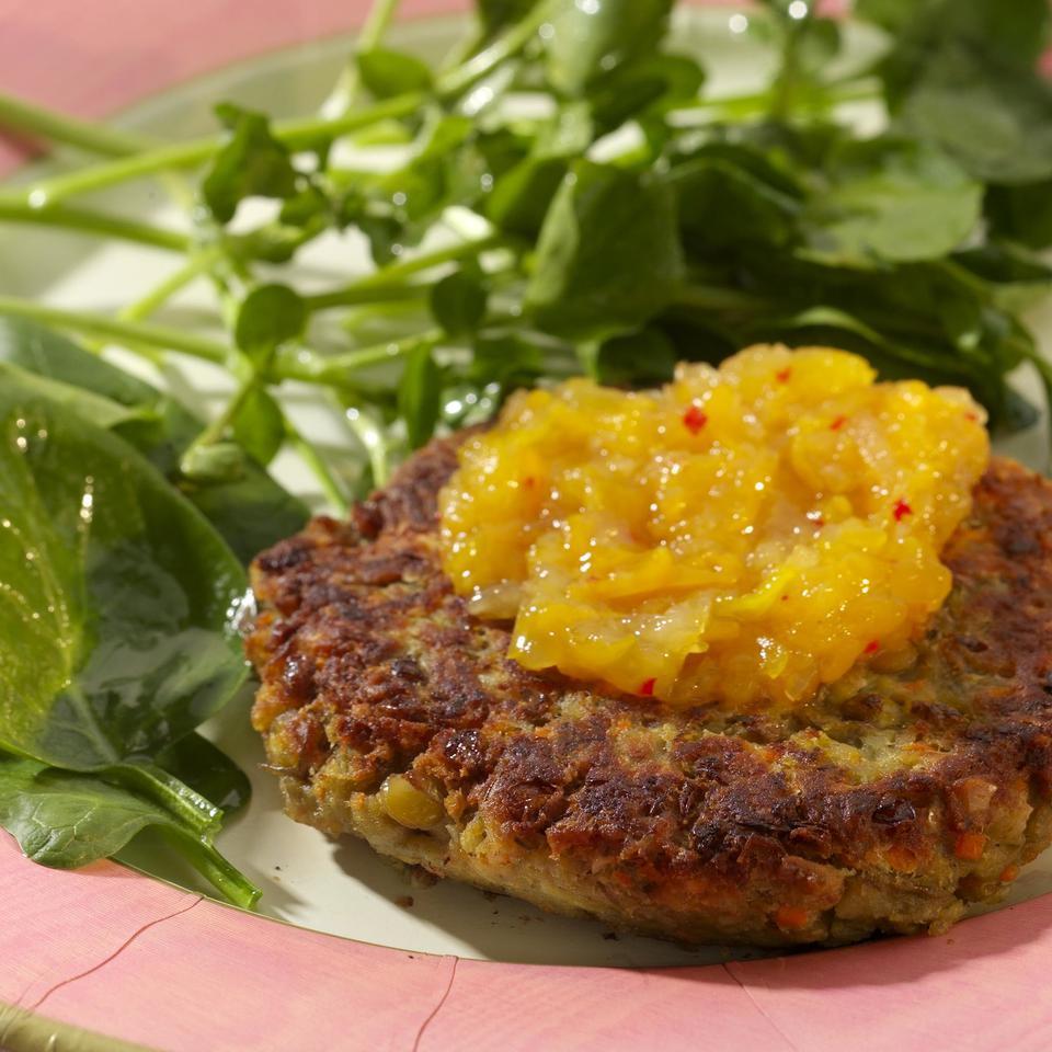 Lentil & Almond Burgers EatingWell Test Kitchen