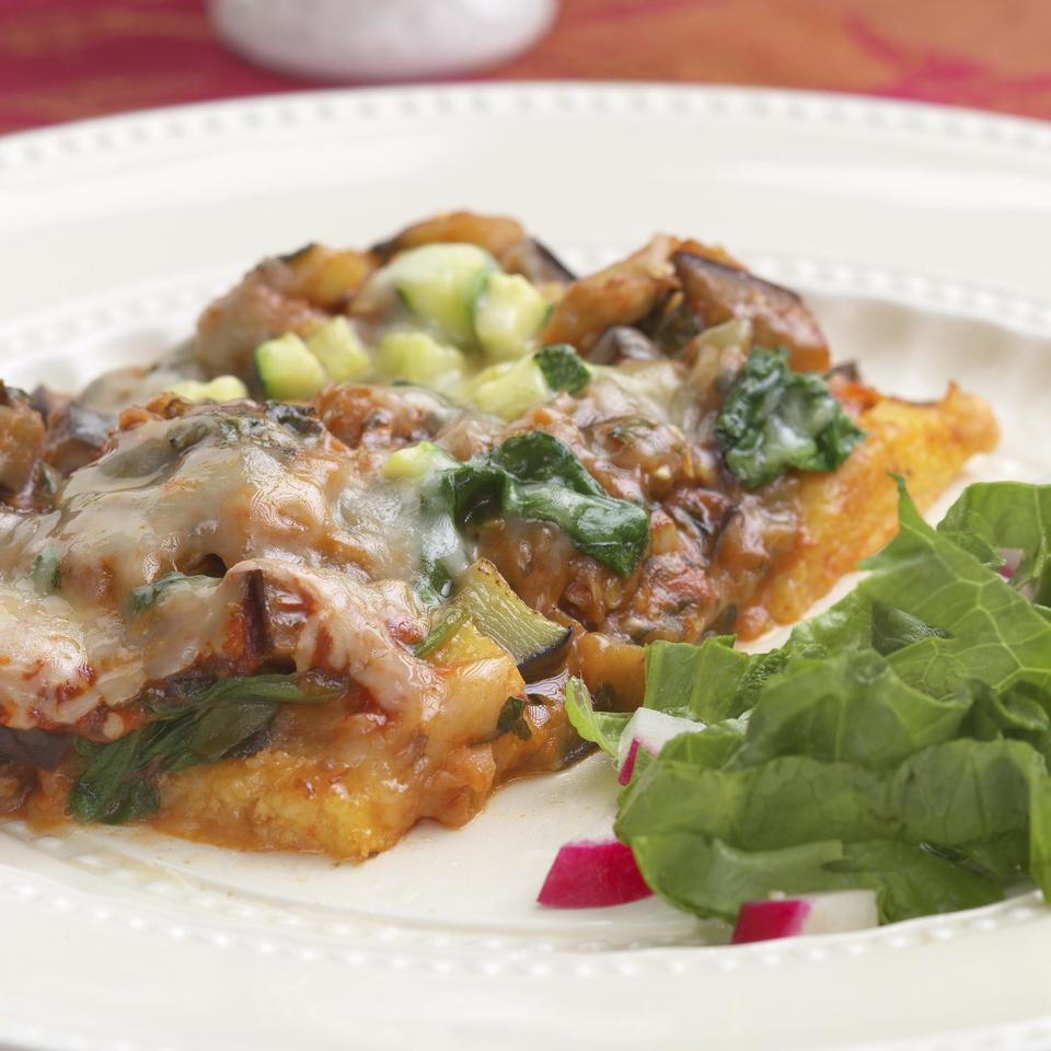Polenta & Vegetable Bake EatingWell Test Kitchen