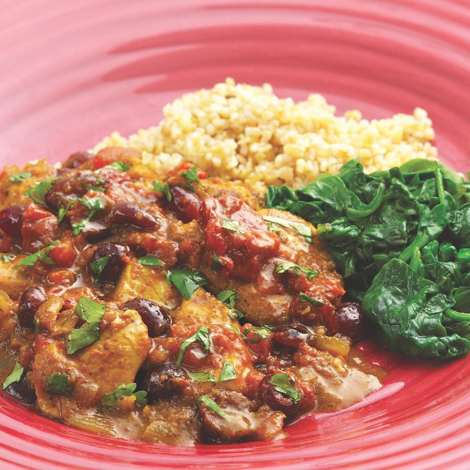 Curried Chicken with Fresh & Dried Cranberries EatingWell Test Kitchen