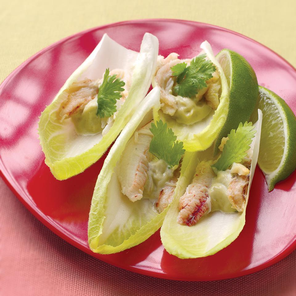 Wasabi Crab on Endive EatingWell Test Kitchen