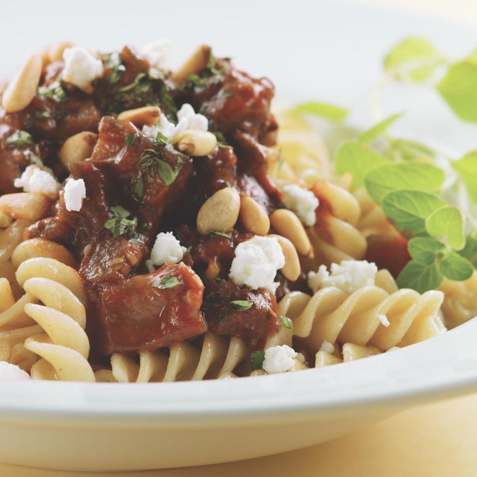 Rigatoni with Beef & Eggplant Ragu EatingWell Test Kitchen