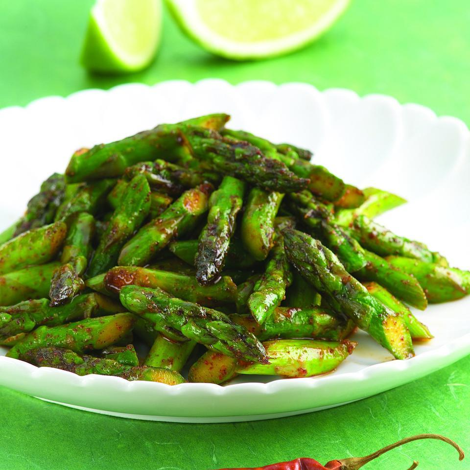 Chile-Spiced Asparagus EatingWell Test Kitchen