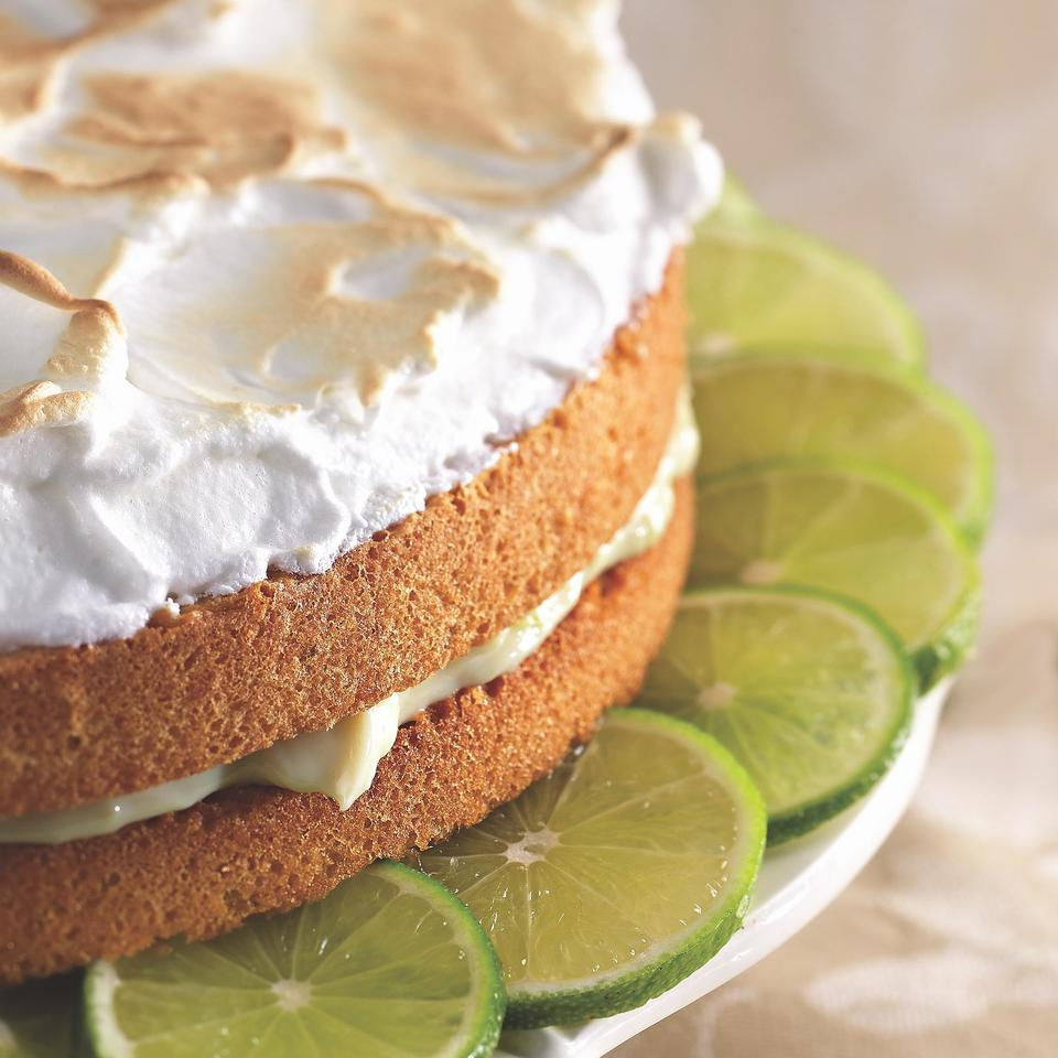 Key Lime Meringue Cake EatingWell Test Kitchen