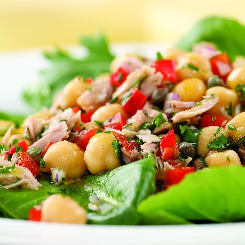 Mediterranean Tuna Antipasto Salad for Two EatingWell Test Kitchen