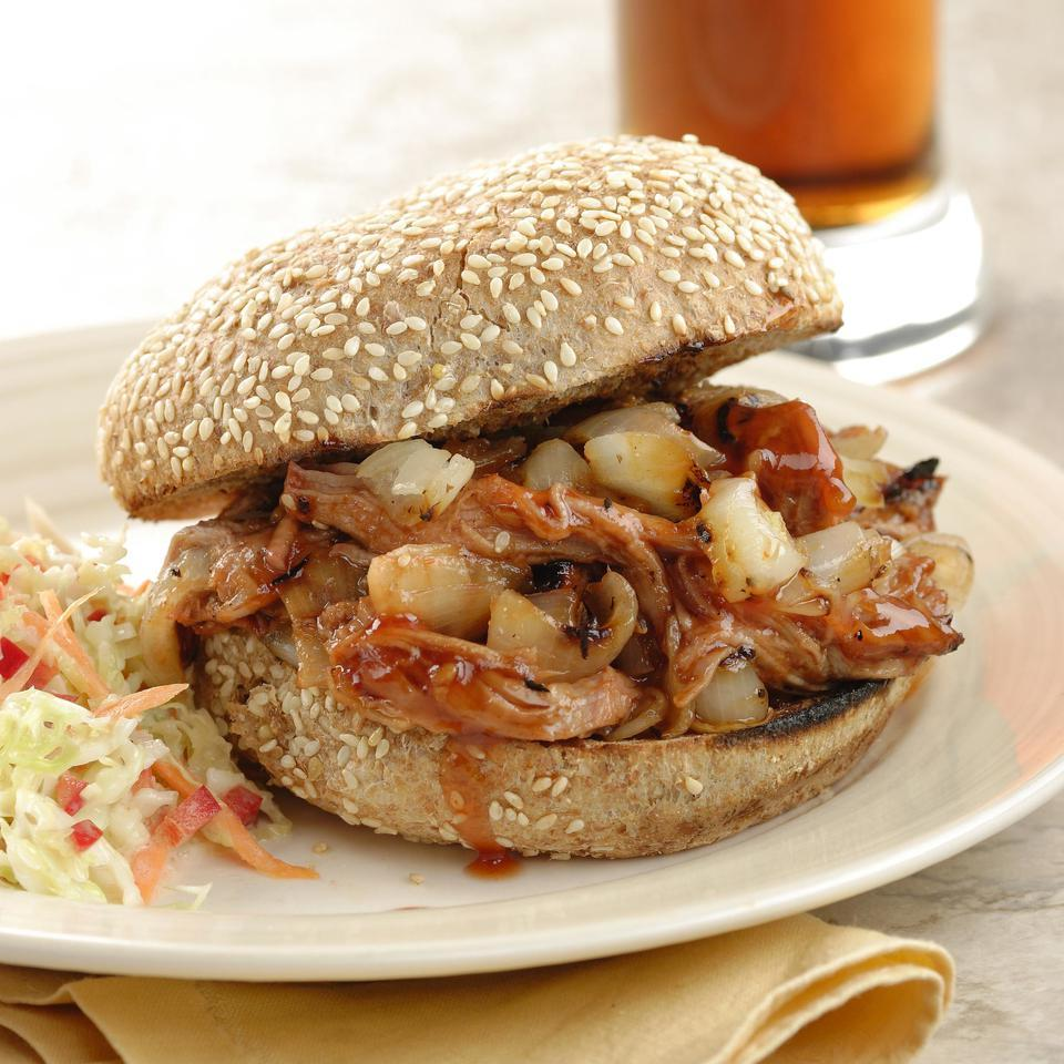 Barbecued Chipotle-Marinated Pork Sandwiches EatingWell Test Kitchen