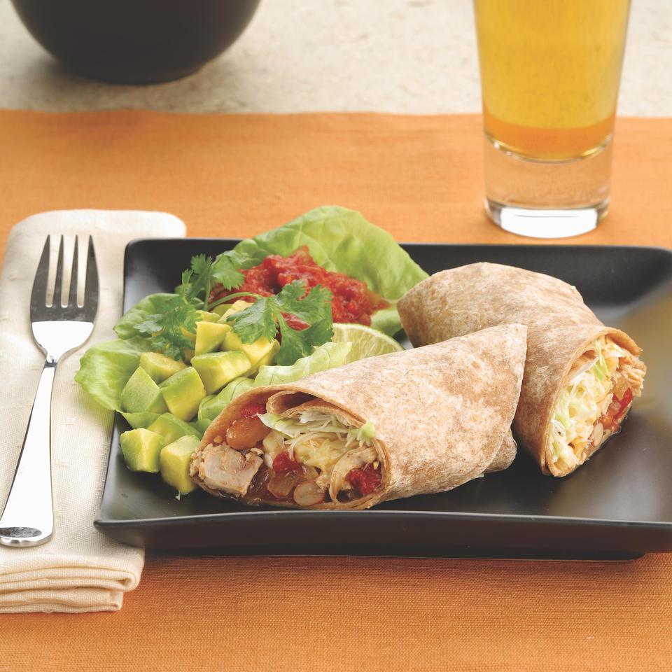 Shredded Turkey & Pinto Bean Burritos EatingWell Test Kitchen
