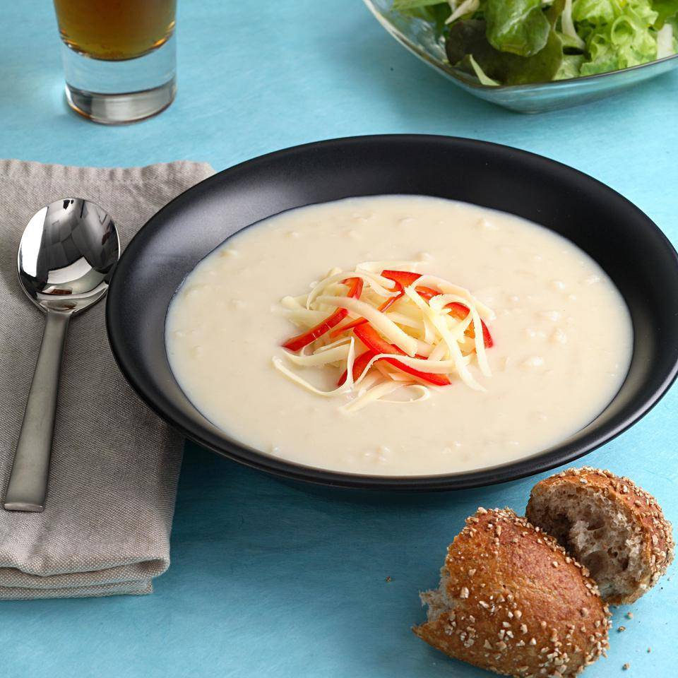 Cheddar-Ale Soup EatingWell Test Kitchen