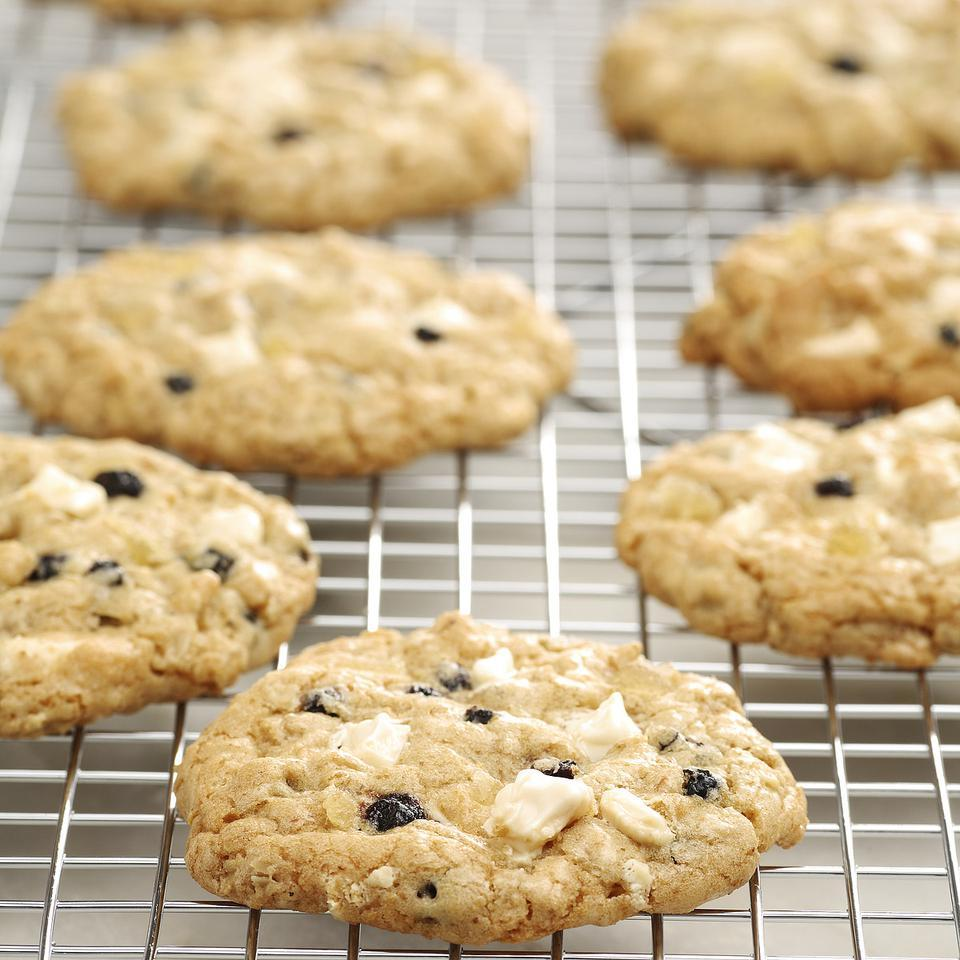 Blueberry & White Chocolate Chunk Ginger Cookies Anna Ginsberg