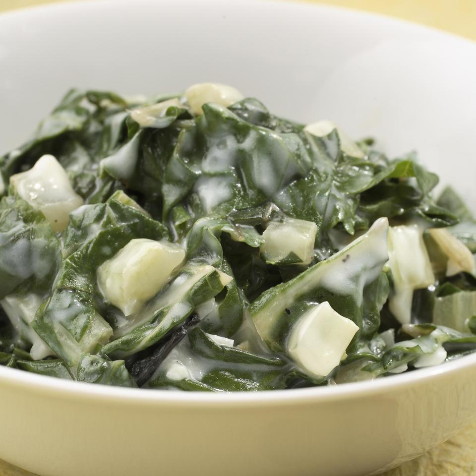 Garlic Creamed Chard EatingWell Test Kitchen