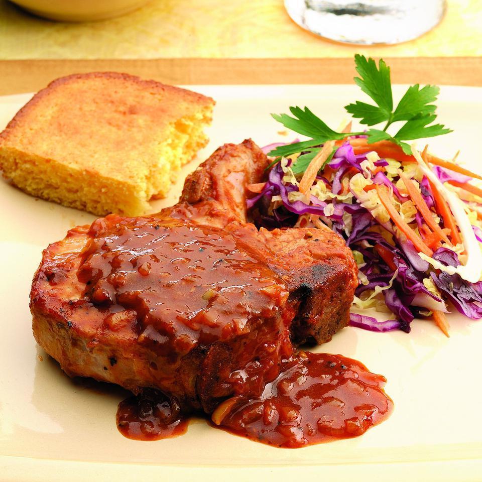 Oven-Barbecued Pork Chops EatingWell Test Kitchen