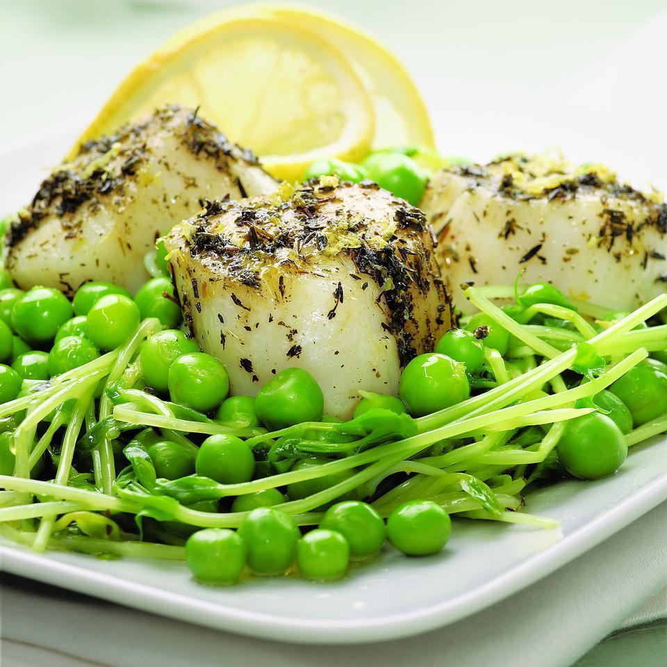Scallops & Sweet Peas EatingWell Test Kitchen