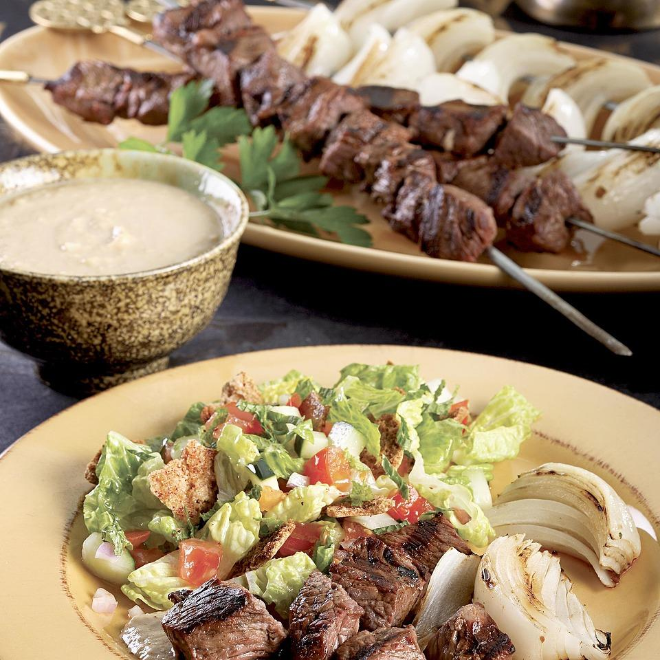 Shish Kebab with Tahini Sauce Carolyn Malcoun
