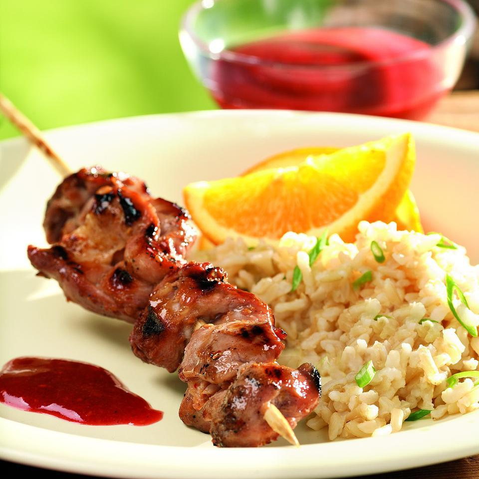 Barbecued Raspberry-Hoisin Chicken Marie Simmons