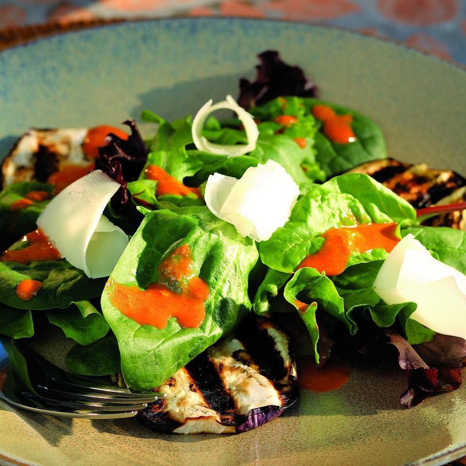 Grilled Smoky Eggplant Salad Cheryl & Bill Jamison