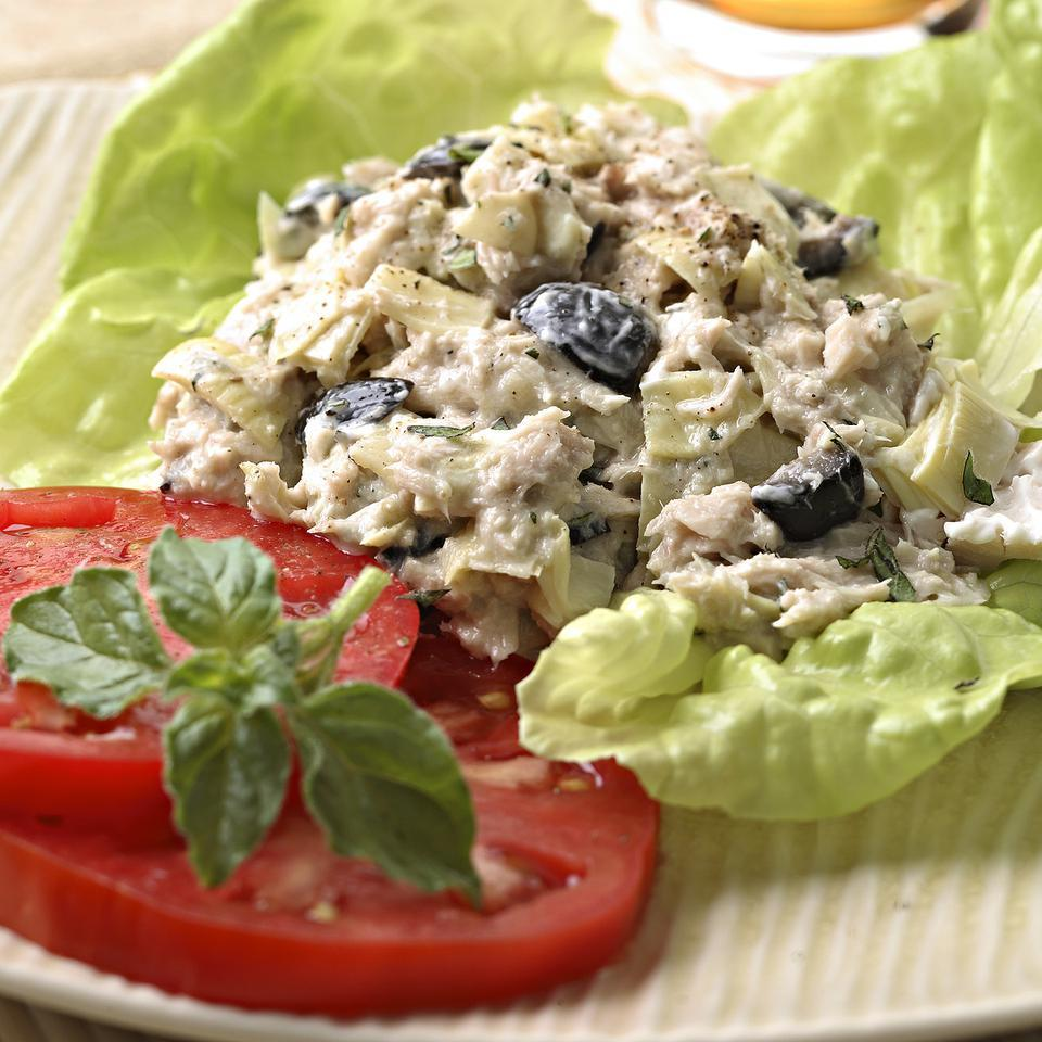 Artichoke & Ripe Olive Tuna Salad EatingWell Test Kitchen
