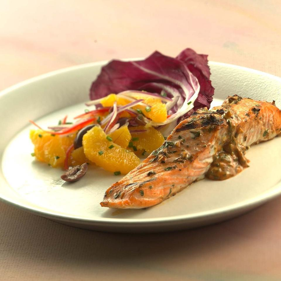Moroccan Grilled Salmon EatingWell Test Kitchen