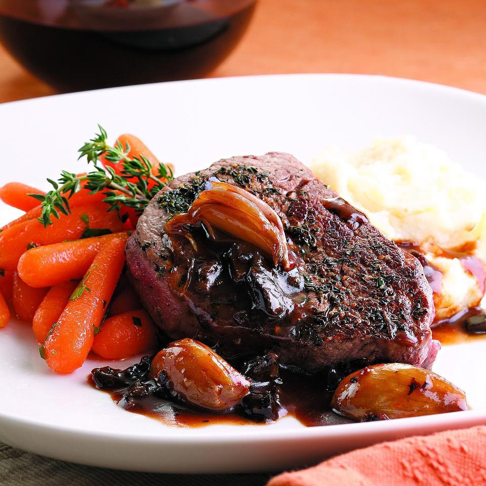 Filet Mignon with Madeira-Prune Sauce EatingWell Test Kitchen