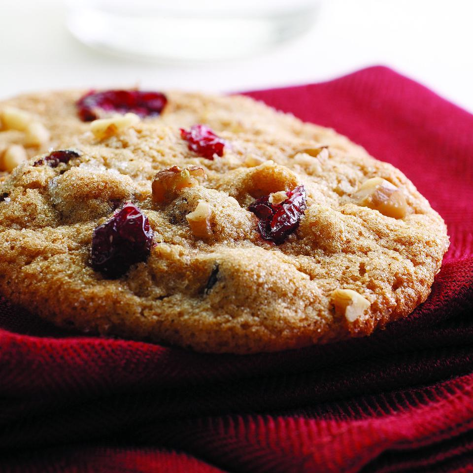 Crisp, moist and chewy, this cookie created by Georgene Egri of Walnut Creek, California, has the essential ingredients for the holidays: citrus, nuts and cranberries. These cookies travel well for gift-giving and lunchboxes.